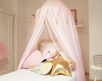 Princess canopy, bed canopy, baldachin, princess decor, bed netting, mosquito net bed, play tent, reading canopy, reading nook, girl decor,