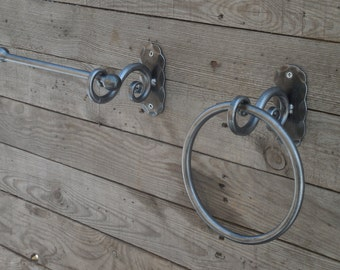 Hand Forged Toilet Paper Holder Wrought Iron Blacksmith
