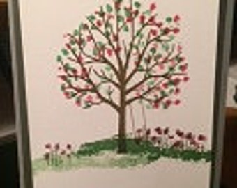Blooming Tree Card