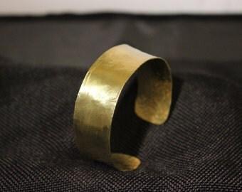 Large Hammered Brass Cuff Bracelet #121916-006