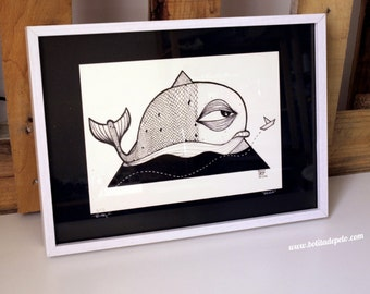 "Framed print of ""Whale"""