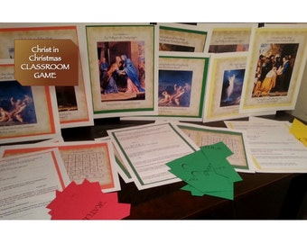 Christ in Christmas Classroom Clue Game - Sunday School - Instant Download - PDF