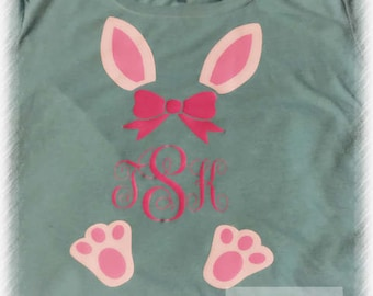 Easter bunny monogram shirt