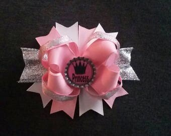 4in Princess Stacked Hairbow