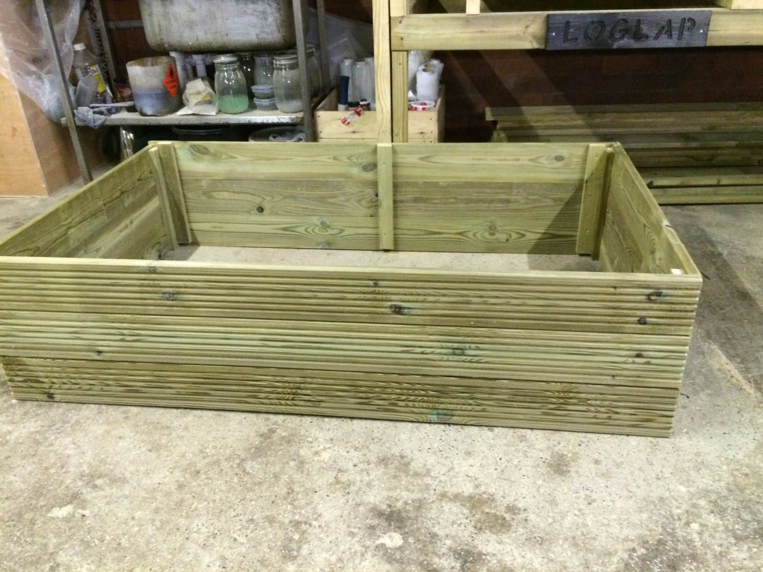 Tanalised decking raised bed garden planter bnib by ebayrebel for Tanalised timber decking