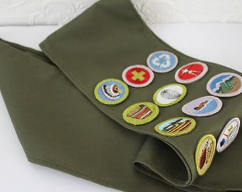 Vintage Boy Scouts of America Merit Badge Sash