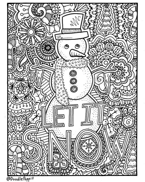 Christmas Coloring Page Coloring Book Pages Printable Adult