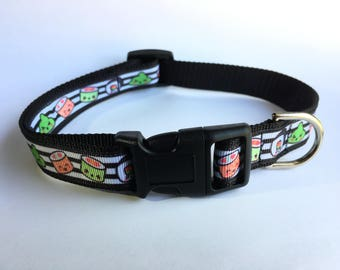 Silly Sushi Dog Collar - Medium