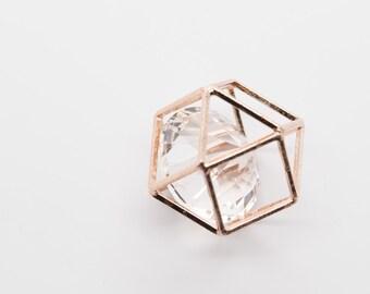 Clear Diamond Cage Pendant Charm- CE4