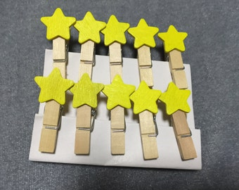 30pieces Colorful Star shape Wood Clips, Decorative Folder,Special Gifts,Wooden Clip/Paper Clips,Bookmark Folders Pegs,Wood pegs,Party Favor