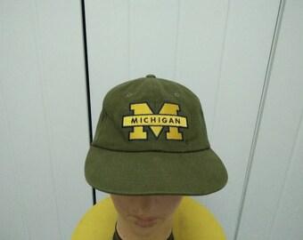 Rare Vintage STARTER MICHIGAN WOLVERINES Big Logo Cap Hat Free size fit all