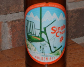 Single Chair, Magic Hat Brewing, Beer Bottle Candle, Soy Wax, Sweet Snow Scent