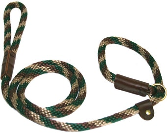 "1/2"" Solid Braid Slip Lead  Camouflage  Handmade in the USA"