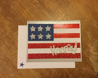 American Flag Hooray Card