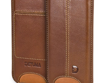 iPhone 7 Case, iPhone 6s / 6 Leather Sleeve, Natural Nappa Leather Pouch - DETUMA® Talha Vintage Cognac