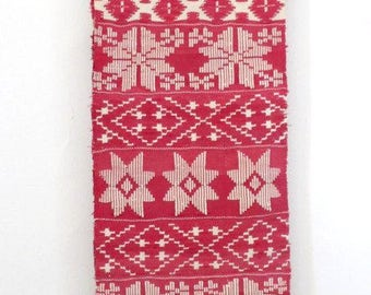 Towel with ornaments - embroidery-handmade. Сreated over 100 years ago in the Bryansk region, Russia.