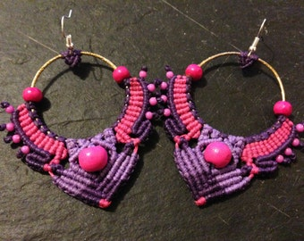 Bollywood macramé earrings
