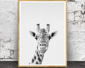 Giraffe Print, Nursery Animals, Nursery Wall Art, Safari Nursery Print, Safari Nursery Decor, Safari Nursery Art,  Animal, Giraffe Wall Art