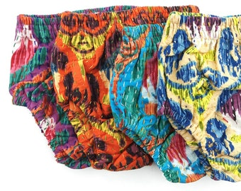 All SIZES, Reversible Kantha Bloomers, Hippie Baby, Diaper Cover, Hippie Bloomers, Bohemian, Baby Shower Gift, Kantha Baby, Cloth Diaper