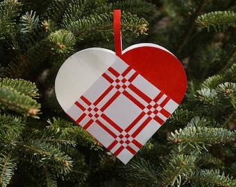 Woven Danish Heart Basket • Scandinavian • Christmas Ornament • Valentine
