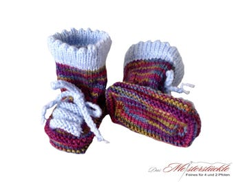 hand knitted baby booties baby socks