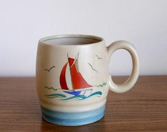A rare 1936 deco style mug or pot Gray's Pottery, Sam Talbot NRD designed, Phyllis Bennett