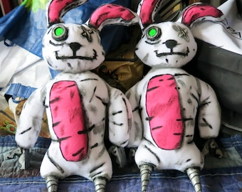 Borderlands Tiny Tina Stuffed Bunny Plush Cosplay Prop Toy