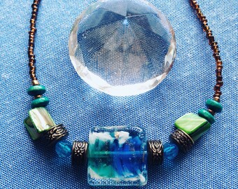 Art Deco Necklace in Silent Water