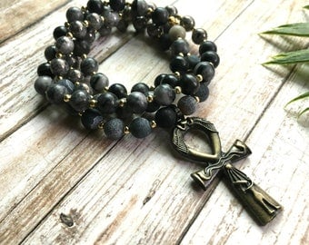 Men's Mala Necklace - Mala Necklace - Mens Mala Necklace - Yoga Necklace - Prayer Beads - Black Mala Necklace - Mala - Men's Necklace - Yoga