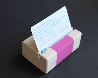 Business Card Holder // Desk Accessory // Wooden Card Holder