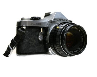 Pentax ME Super se SLR Film Camera with Pentax-M 1:2 50mm lens - Great Working 35mm Film Camera - Great Student Camera