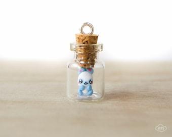 Tiny bottle necklace panda – kawaii pendant mini tiny vial cute miniature bear