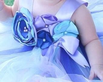 Aqua Lavender & Blue Tutu Dress