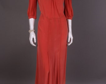 Silk dress from the 40 years