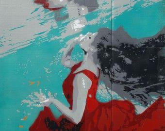 Fine Art Print/ Underwater Reflections/ Interior Poster