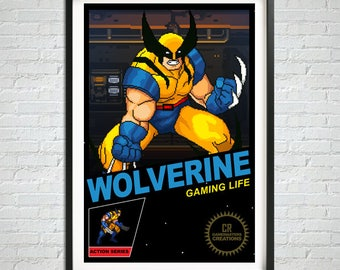Retro Gaming Poster, Best Selling Shops, Pixel Print, Gamer Decal, Wall Art Print, Home Decor, Classic Gamer Poster, Games Print, Pixel Art