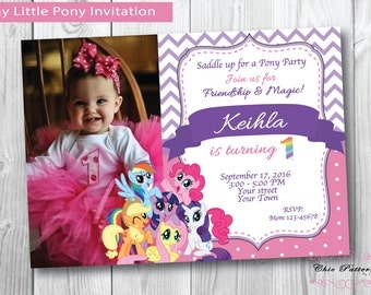 my little pony invitation | etsy, Party invitations
