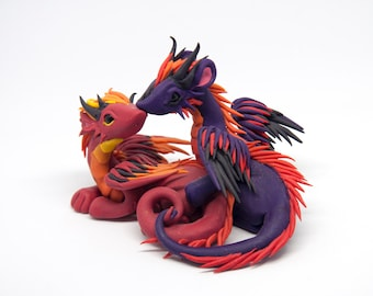 Saé and Lago - Red and purple dragon couple