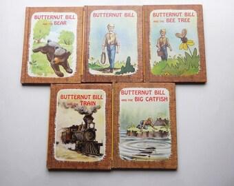 1975 Vintage Butternut Bill Hardcover Book Lot of 5