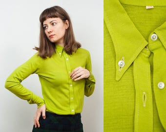 Chartreuse 70s Slim Fit Shirt