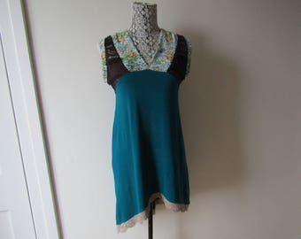 dress tunic, made from recycled clothing.   Dress tunic, made from recycled clothing.