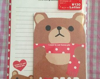 Q-lia I Love Bear Kawaii letter set