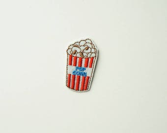Pop Corn Embroidered Iron On Sew-on Applique Patches DIY