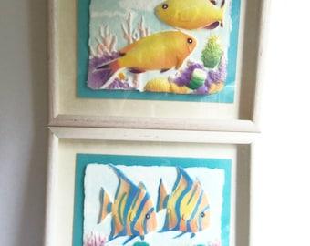 Fish Prints - TWO 3D - Marine Art - Framed Prints