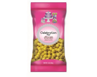 Celebration Sixlets Yellow 14 oz