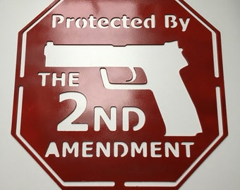 2nd Amendment Metal Sign, Father's Day, Hunting, Fishing, Sportsman