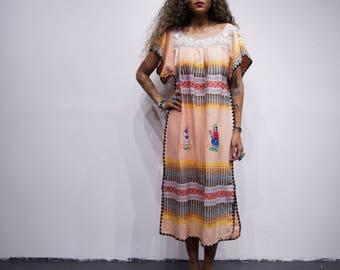 Gorgeous Unique Handmade Dress Kaftan from Ecuador