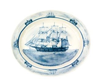 Oxney Green England Nautical Oval Platter