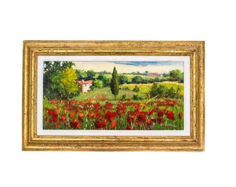 Original Signed Tuscany Italy Oil Painting