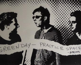 Green Day 23x35 Practice Space Music Poster 1995
